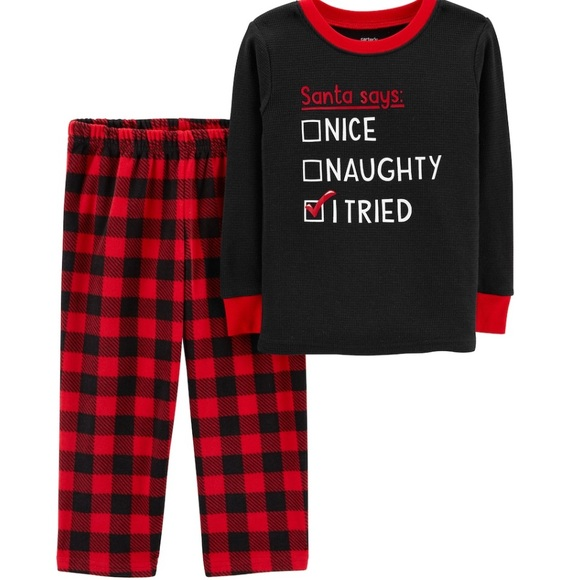 Baby Glam Santa/'s Favorite Red Black One PC Infant Boys Girls Size 3 Months NWT